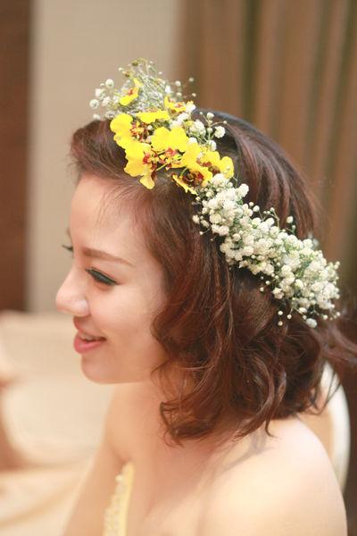 鮮花造型.新娘造型.短髮新娘.三重.蘆洲.新莊.新北市.台北.全省.新秘.萳西