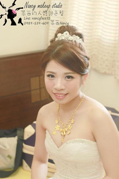 新娘髮型.盤髮.包頭.結婚.白紗